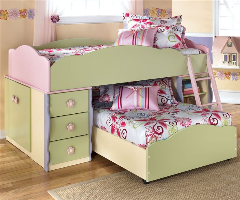 Ashley Furniture Doll House Loft Bed with Built-In Dresser ...