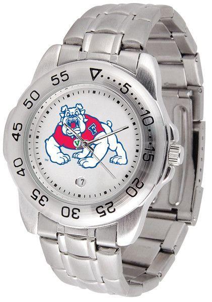 Mens Fresno State Bulldogs - Sport Steel Watch