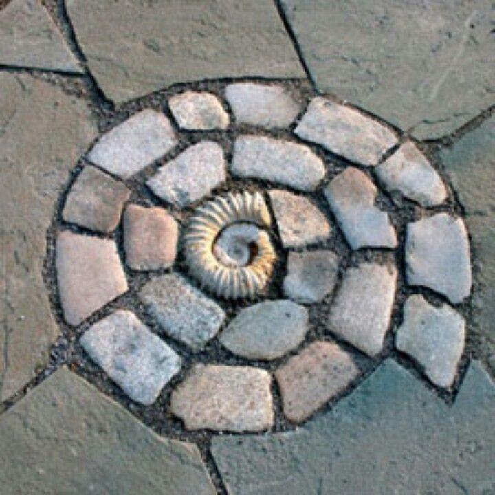 Voor in de tuin buiten 6 x pinterest mosaics for Nautilus garden designs