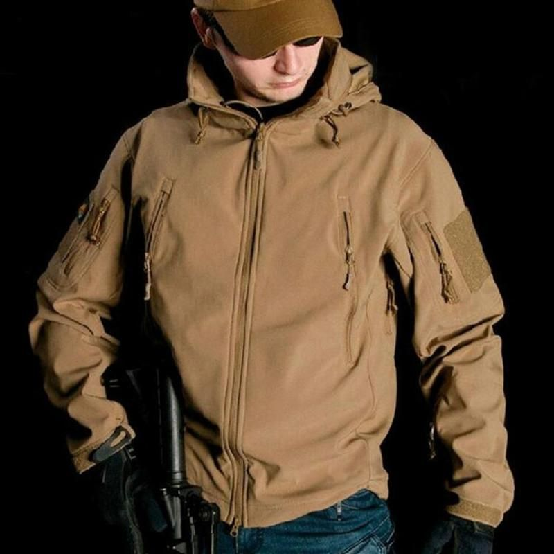 Mens Hooded Casual Waterproof Outdoor Tactical Coat Fashion Jacket Trainer Sz J