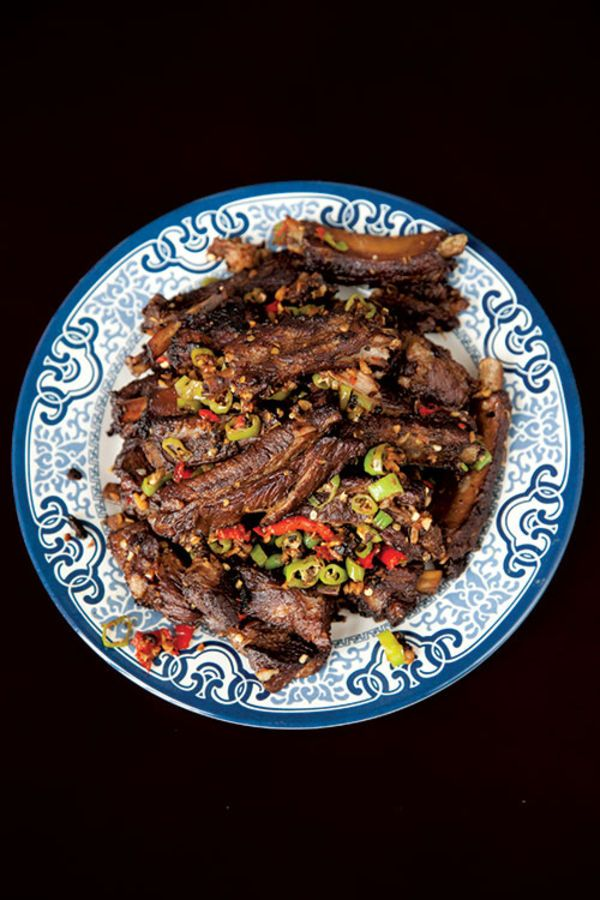 Lu Rou (Triple-Cooked Spareribs with Chiles)