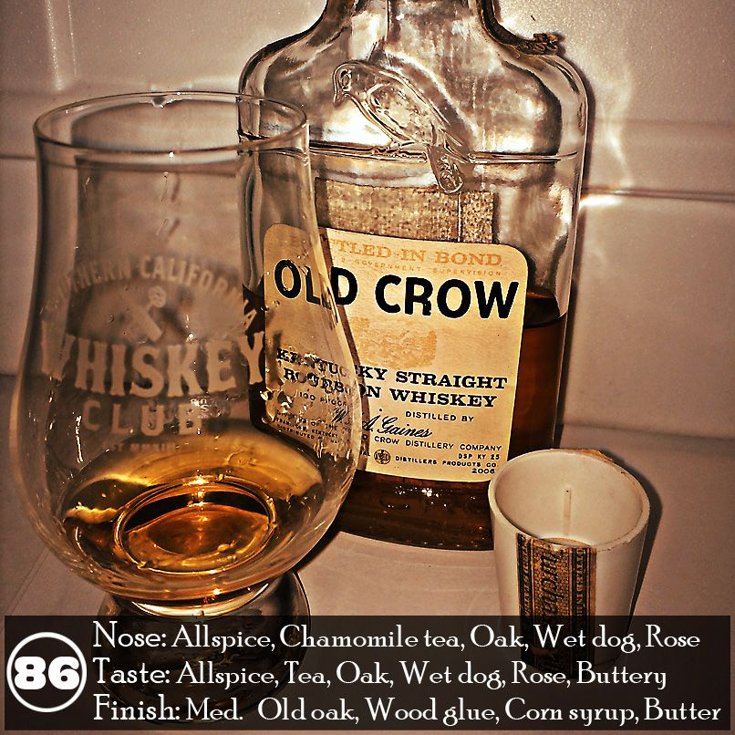 Bottles like this 1980 Old Crow Bottled in Bond are always a crapshoot. Sometimes old bottles are great and other times they are completely ruined by the plastic cap. I'm happy this one came through, but I would never pay a whole lot for a bottle of this for that very reason. Keep that mind when you're out dusty hunting.