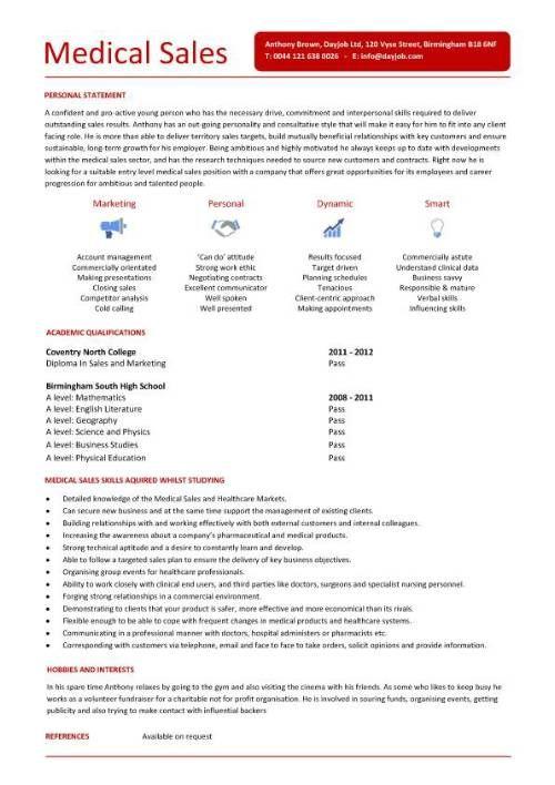 Entry Level Medical Sales Resume Medical Sales Resume Medical Sales Sales Resume