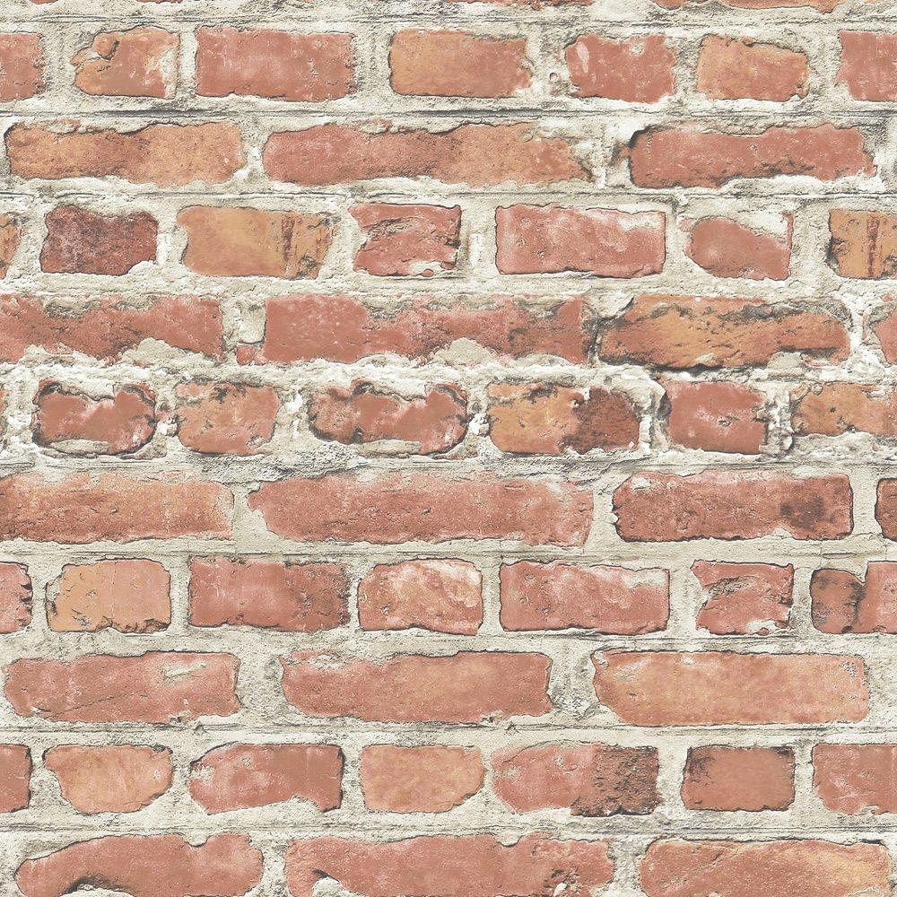 Brick Wall Paper rasch portfolio terracotta red brick wall realistic wallpaper