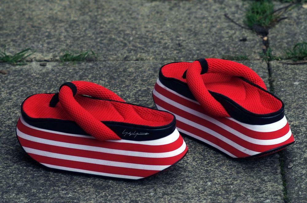 8066618446e Yohji Yamamoto Y-3 Geisha Thong Sandals Platform Flip Flops Japanese Cosplay