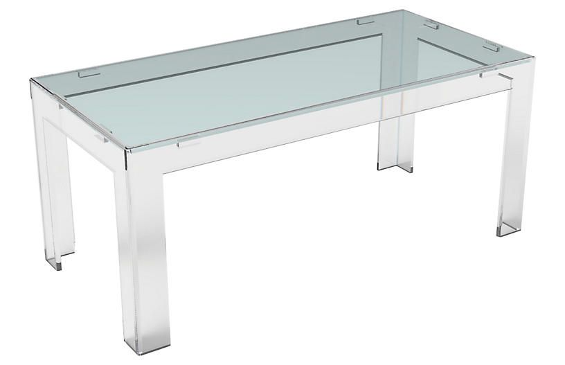 Parsons Acrylic Coffee Table Clear PlexiCraft Small Products - Plexi craft coffee table