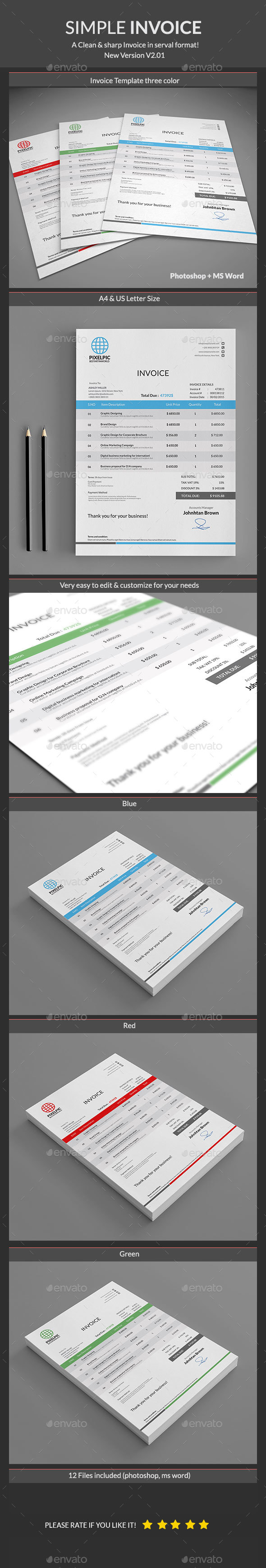 Pin de best Graphic Design en Proposal & Invoice Templates | Pinterest