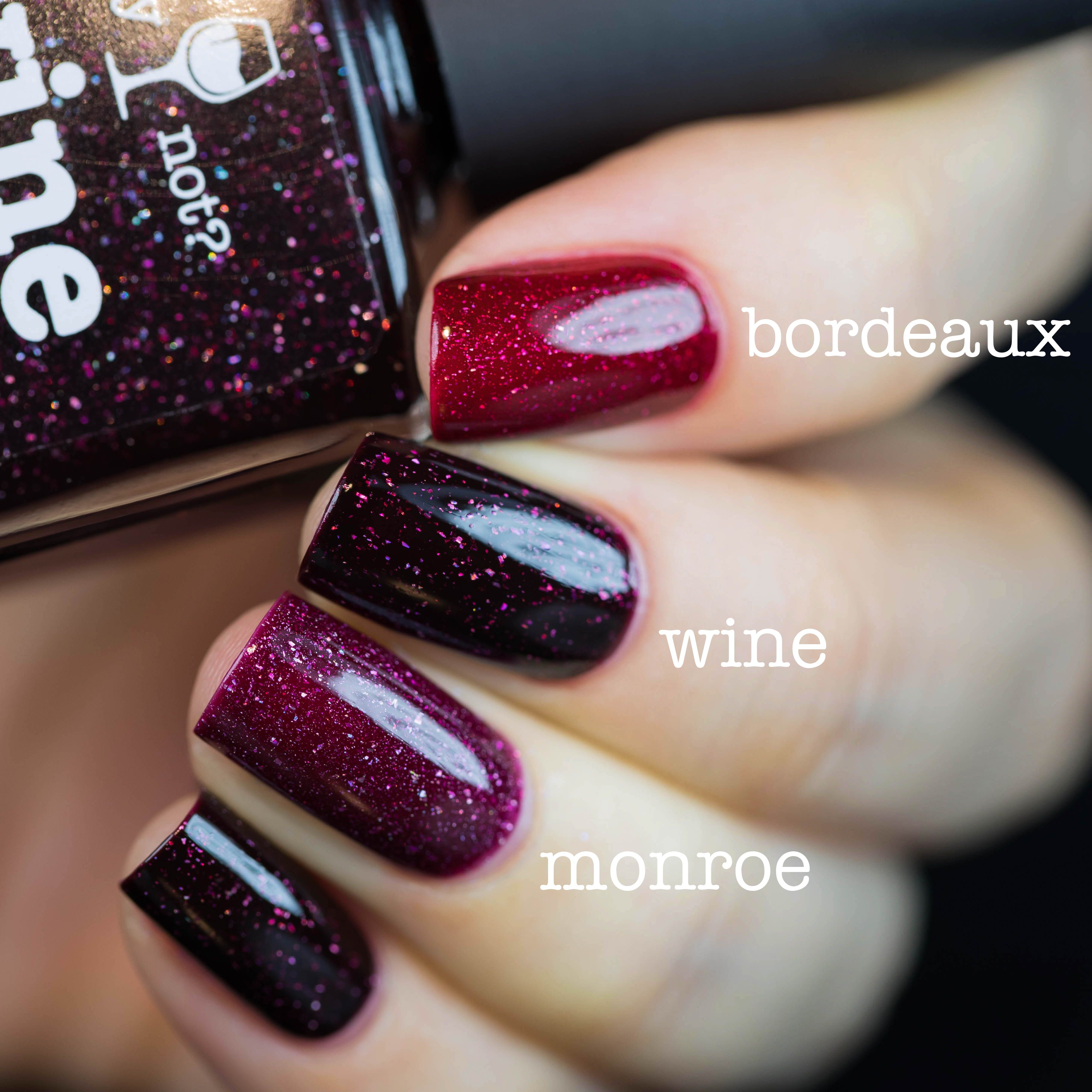 Nail Polish Wine Comparison | Nail Art - Just Polish Colors (frost ...