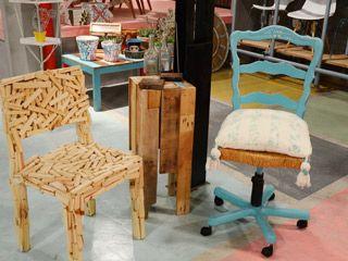 Silla reciclada  Bibiana Alvarez Roldn  casita  Sillas