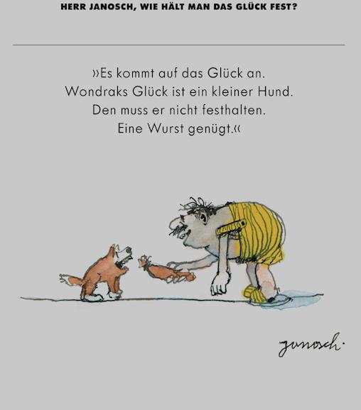 Herr Janosch Wie Hält Man Das Glück Fest Herr Janosch