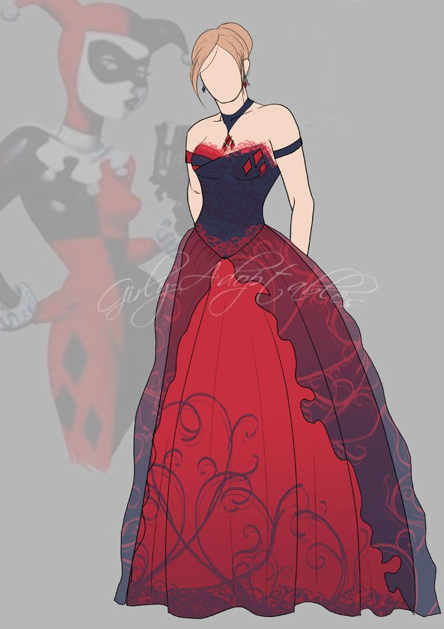 Harley quinn by girly adoptables harley and joker for Harley quinn wedding dress