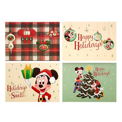 Disney Christmas Cards.Disney Christmas Cards Retro Mickey Happy Holidays