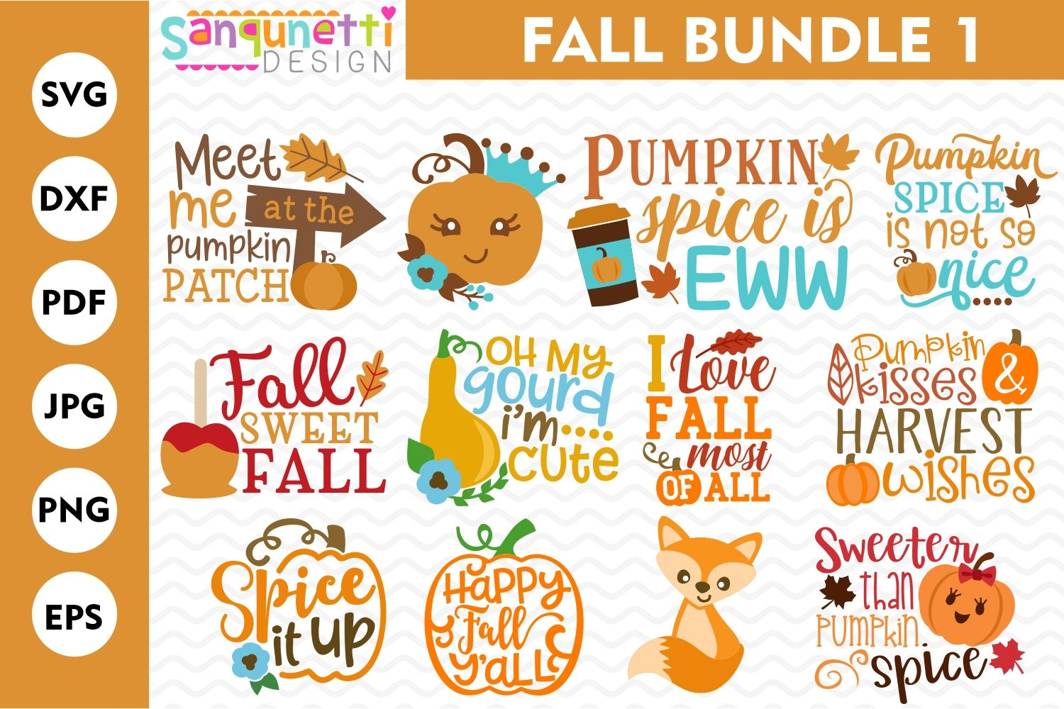 Fall SVG Bundle 1, autumn cut files From Our Designers
