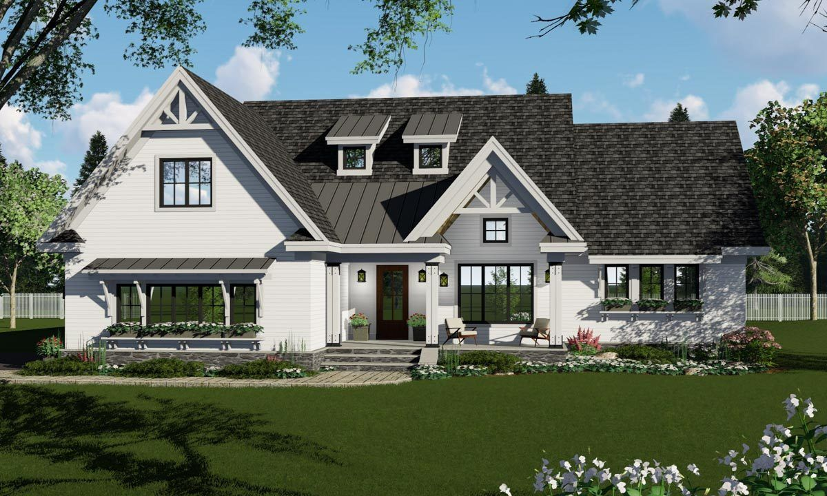 Plan 14672RK: 3 Bedroom Country Craftsman Home Plan with ...