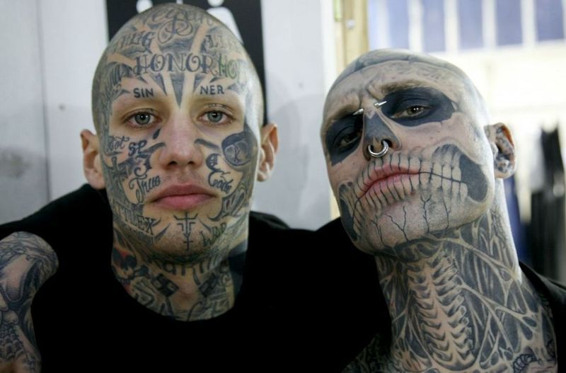 Mugler Fait De Dario Son Nouveau Zombie Boy Tattoos Pinterest