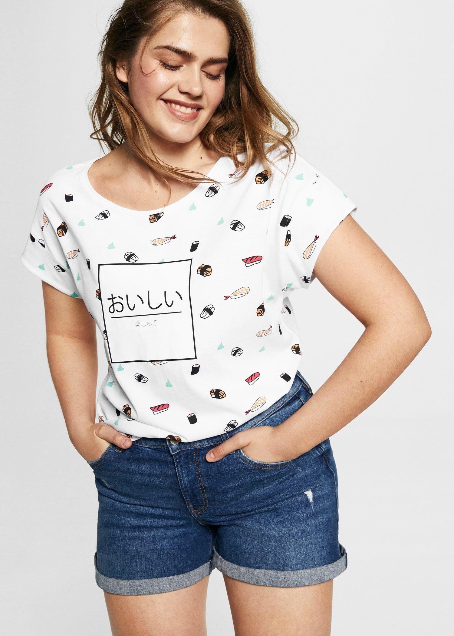 308af00401a Mango Sushi Printed T-Shirt - Plus Sizes