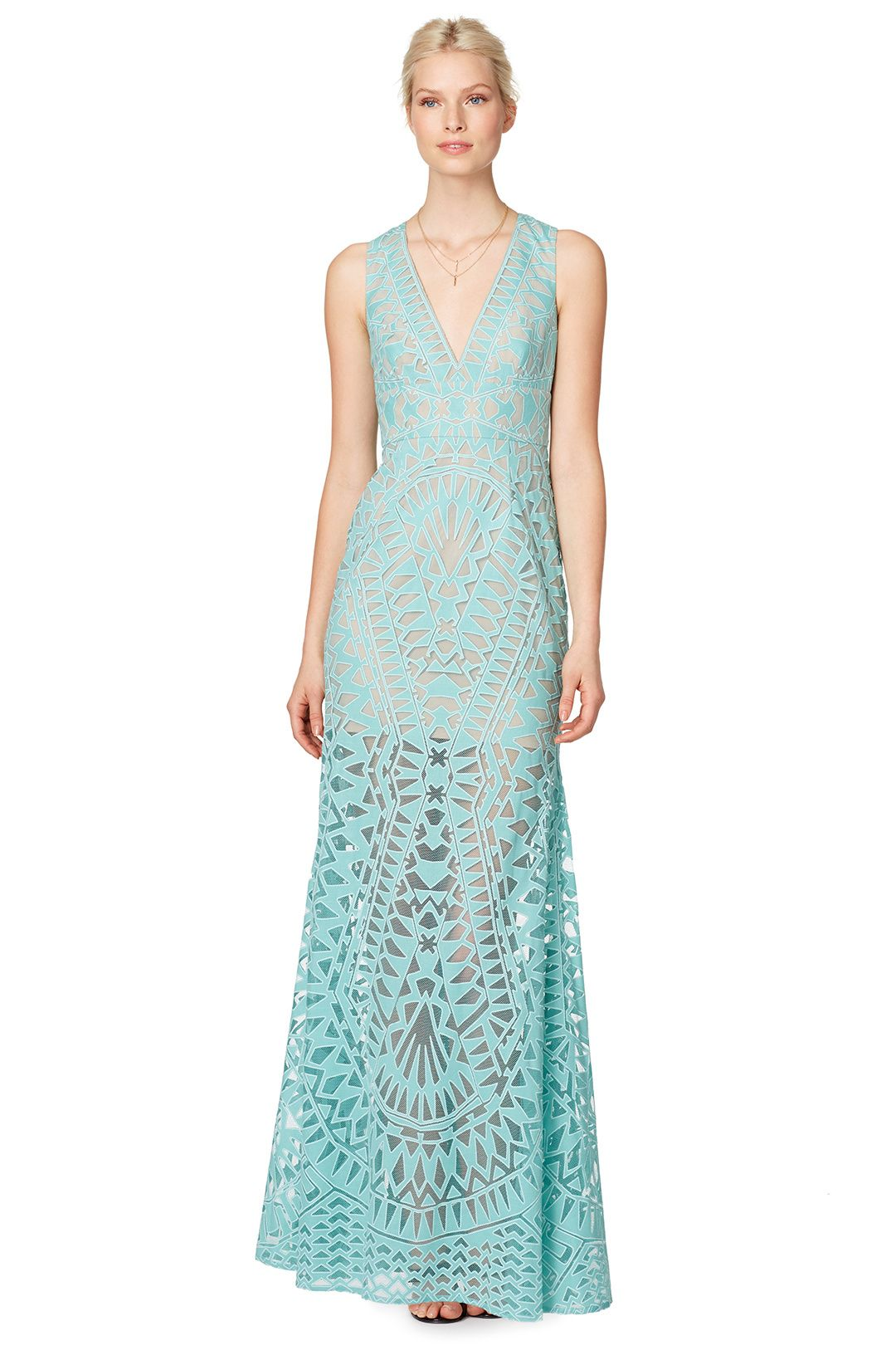 Rent Aqua Chakra Gown by BCBGMAXAZRIA for $100 only at Rent the ...