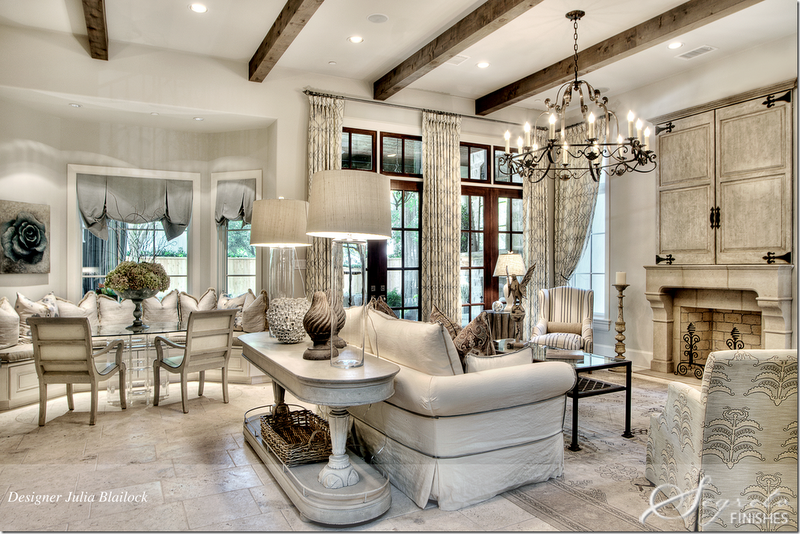 Beautiful use of the space. Love the wood beams.