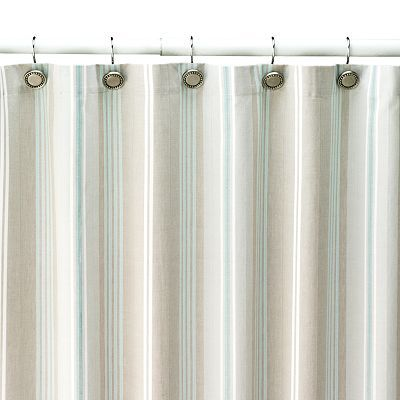 Sonoma Life Style Tiburon Striped Fabric Shower Curtain For