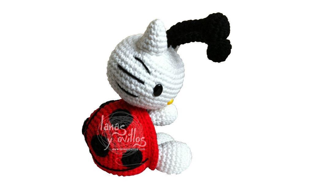 Hello Kitty Mariquita Patrón gratis amigurumi español | Amigurumi ...