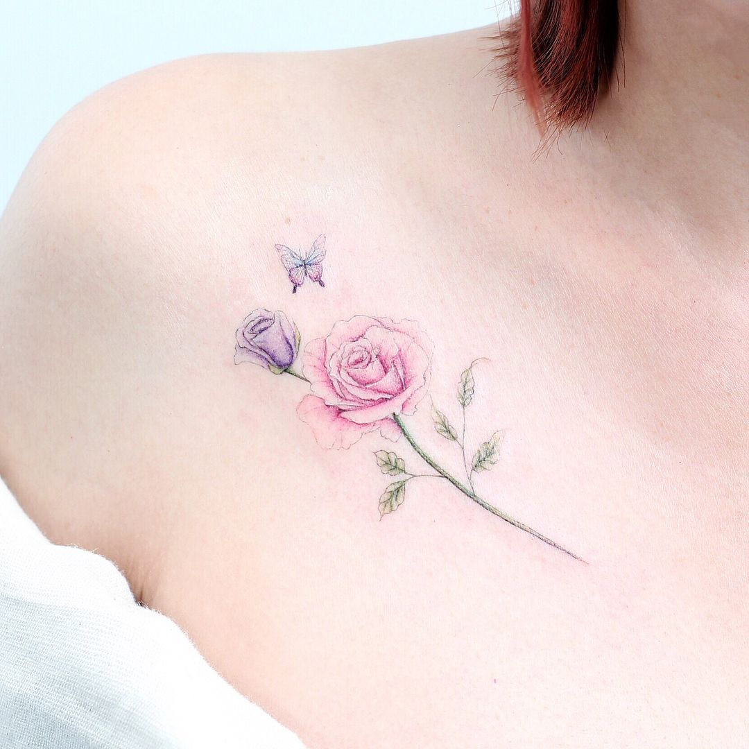 Mini Tattoo Hk Mini Lau On Instagram Rose Small Rose Tattoo Mini Tattoos Tattoos