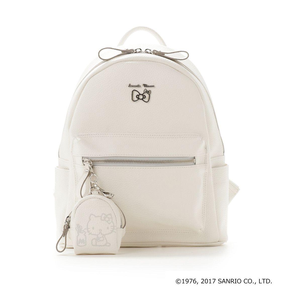 Samantha Thavasa Hello Kitty Backpack Bag White SANRIO JAPAN 2017 ... 3c713c8c75ae4