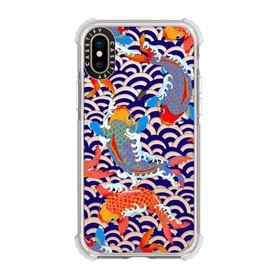 koi fish Japanese tattoo style transparent pattern – CASETiFY