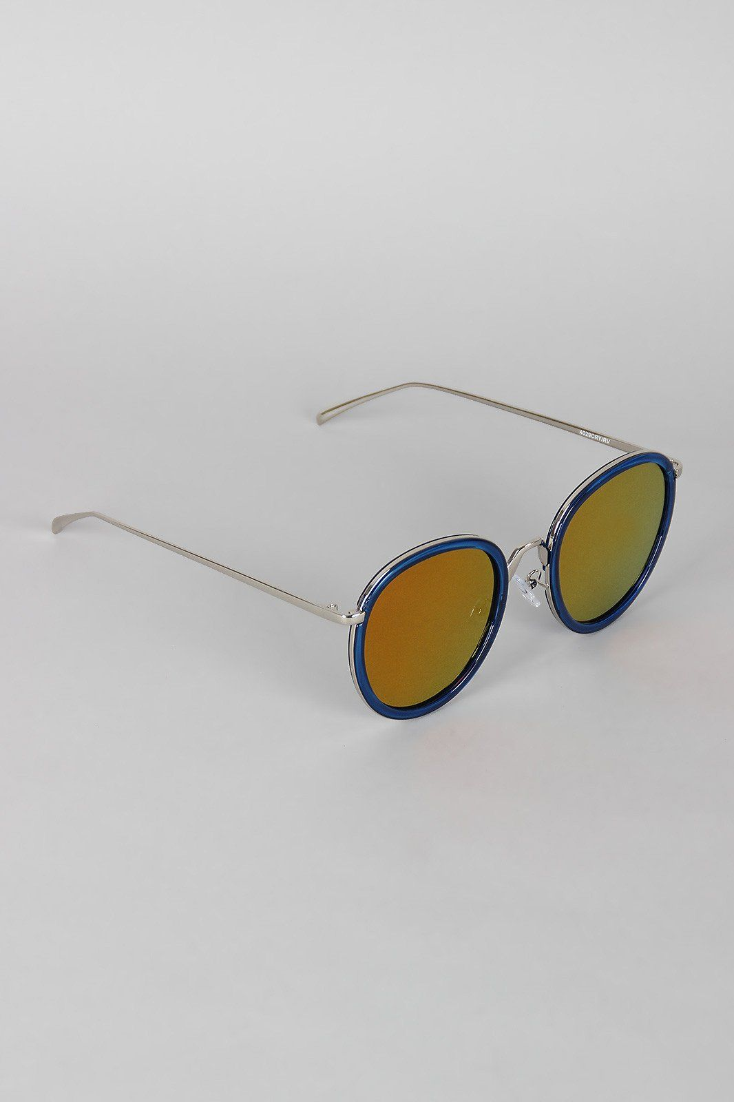 """Pointy Bridge Plastic and Metal Sunglasses. These casual  sunglasses  feature a metallic frame with plastic outline on lenses, pointy style bridge, and nose cushions.Measurement Measures approx. 2.25"""" L x 5.5"""" W."""