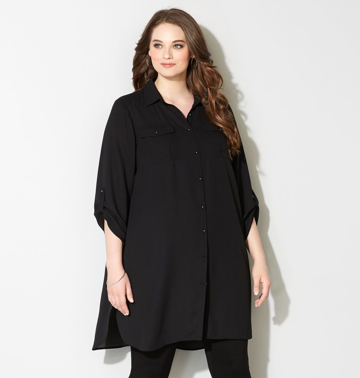 ba9455ac929 Shop long tunics to pair with leggings like the plus size 2 Pocket Tunic  available online at avenue.com. Avenue Store