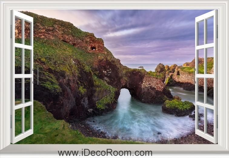 3D Scotland Sky Clouds window wall sticker art decal IDCCH-LS-003542