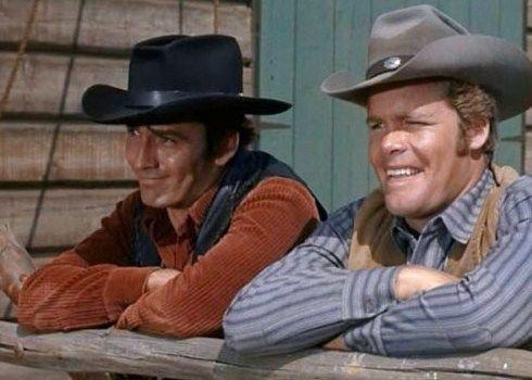Image result for the virginian with James Drury and Doug McClure