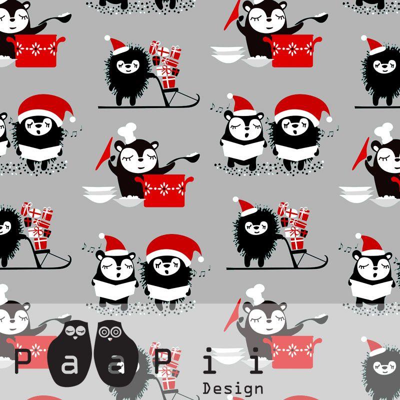 PaaPii Design - Siirin ja Myyryn joulu -puuvilla