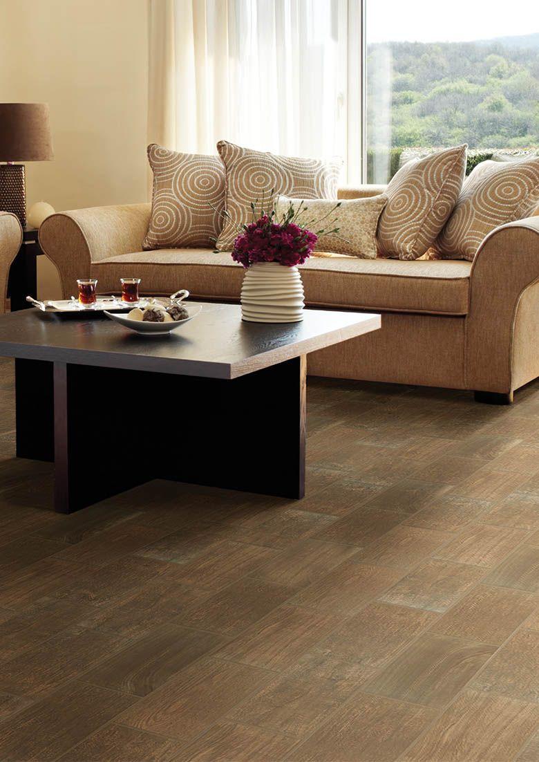 Daltile Emblem Ceramic Tile Brown Wood tile floors