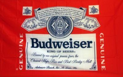 Budweiser Beer Premium 3 X 5 Flag F 1125 Budweiser Budweiser Beer Neoplex