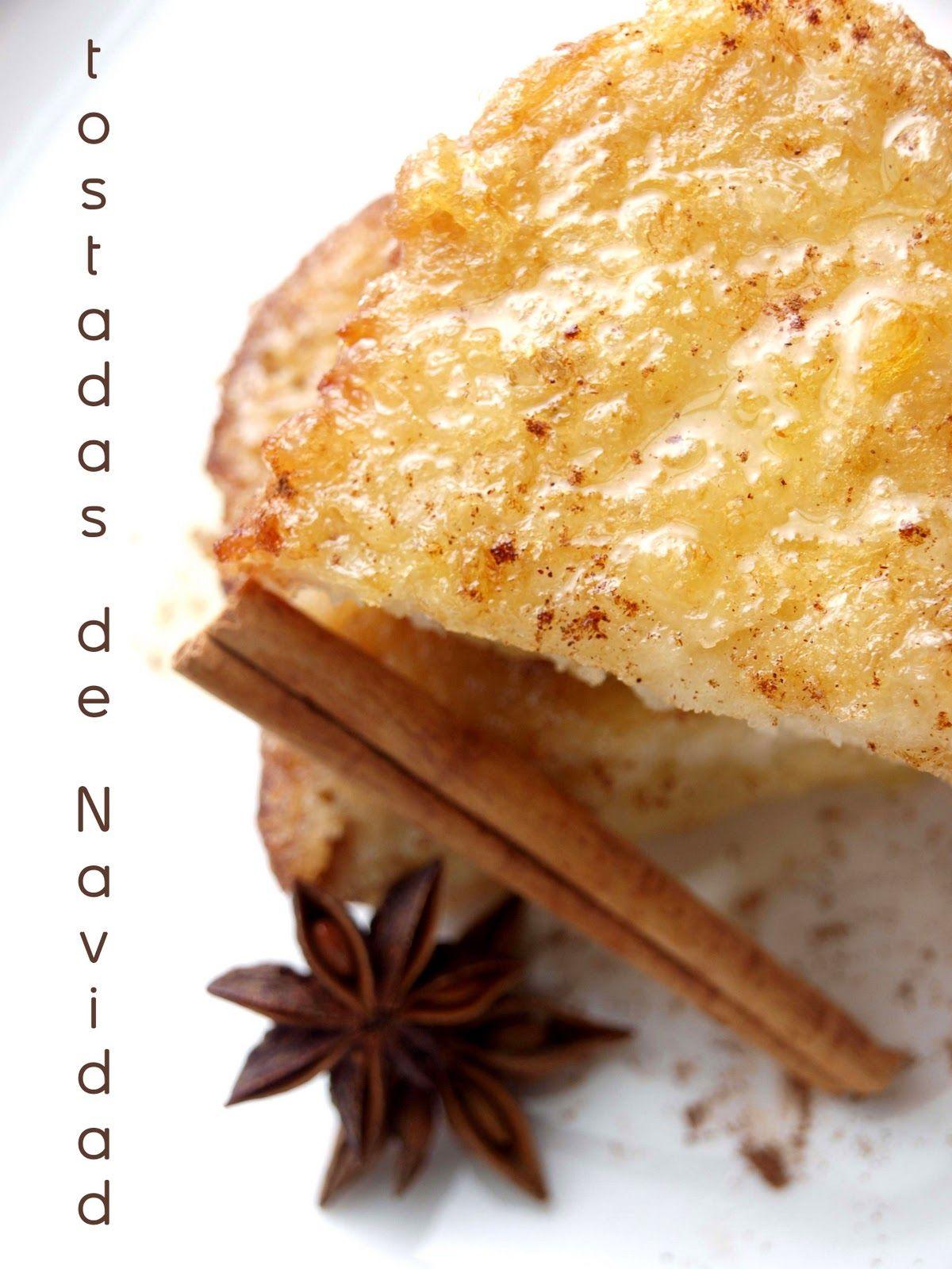 Bocados dulces y salados: TOSTADAS DE NAVIDAD