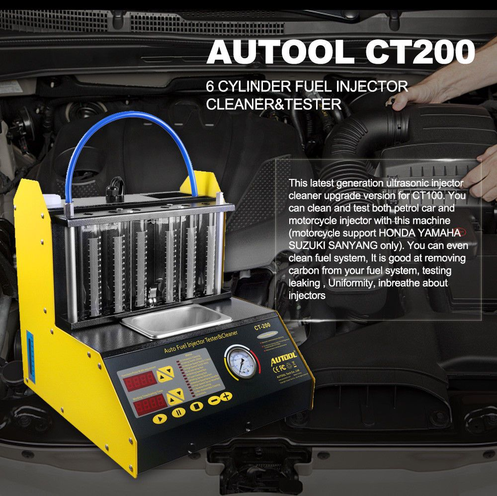 Autool Ct200 Fuel Petrol Ultrasonic Injector Cleanertester Short Circuit Detector Ect2000 Motorcycle Us Stock Ebay Link