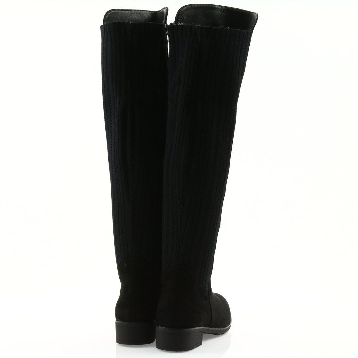 Kozaki Ze Skarpeta Filippo Czarne Boots Insulated Boots Womens Boots