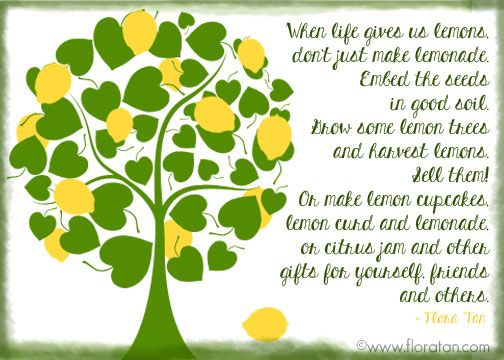Image result for lemon tree quotes