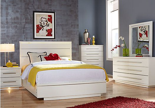 Marbella White 7 Pc Queen Bedroom Home King
