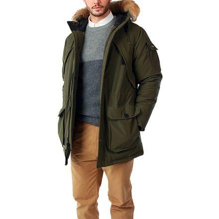 Penfield Hoosac Real Fur Hooded Down Mountain Parka Men's