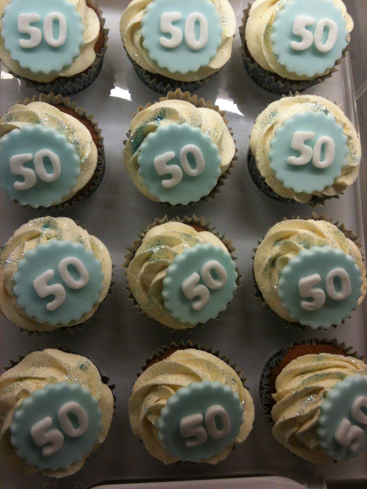 Birthday Cupcakes For Men Vanilla sponge with vanilla