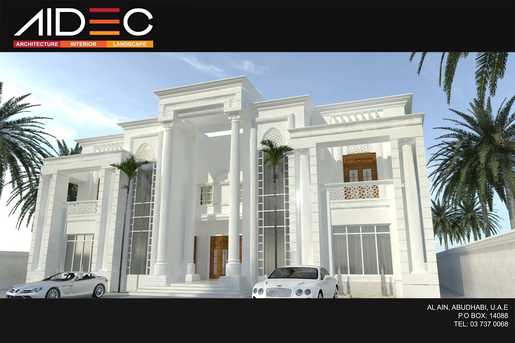 Residence villa romanian design abu dhabi uae aidec for Modern house uae
