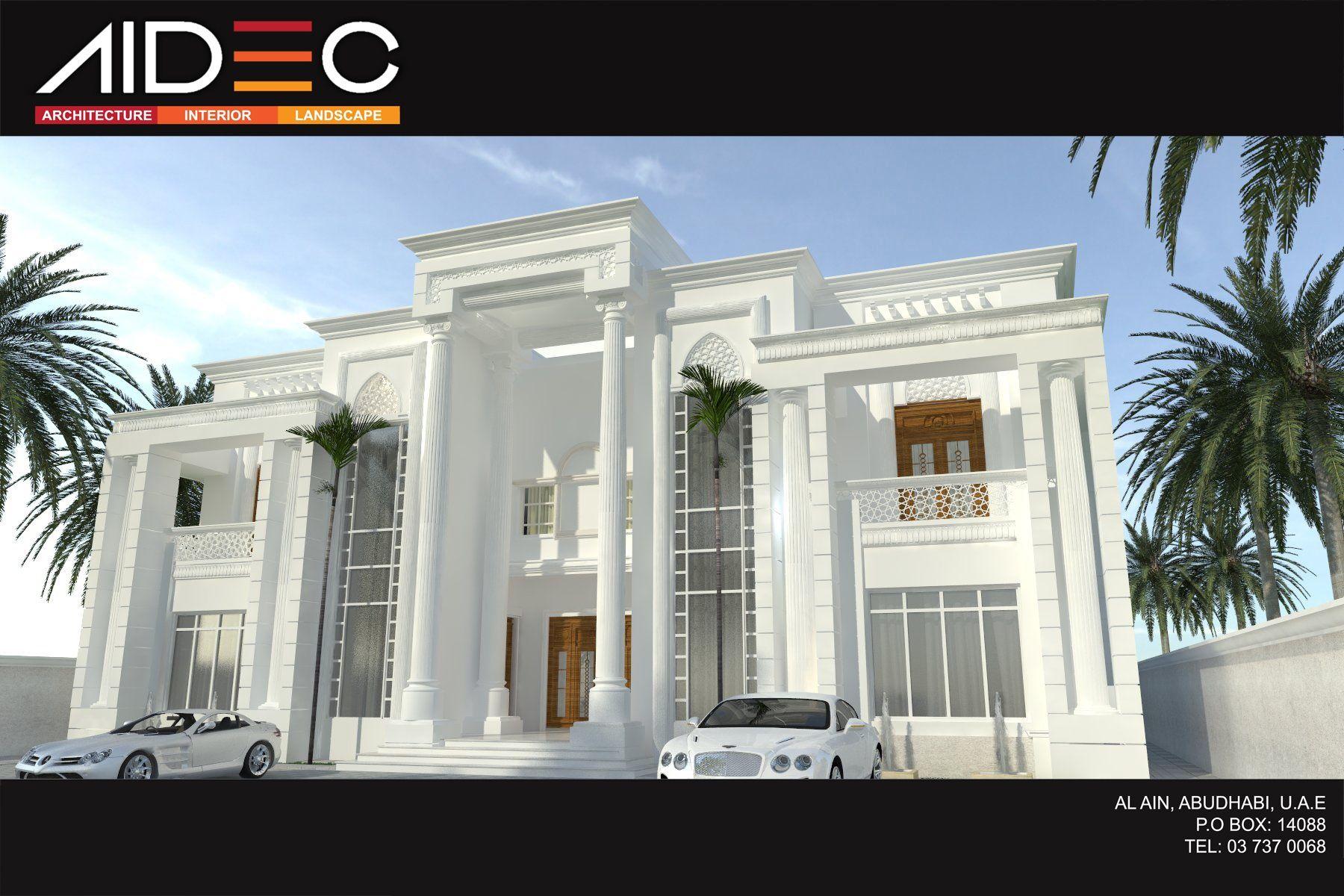 Residence villa romanian design abu dhabi uae aidec for Modern house uae