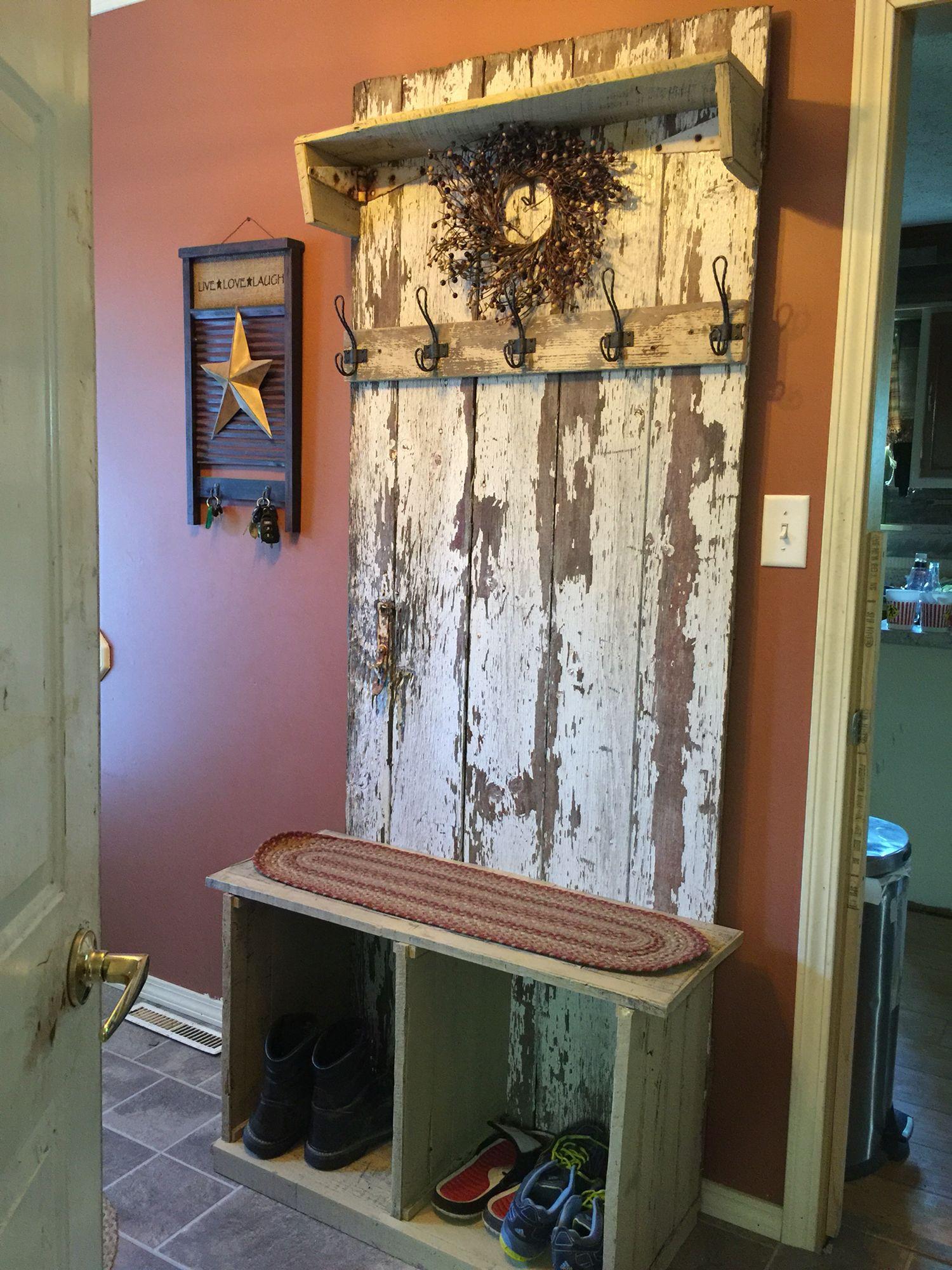 Barn Door Hall Tree Barn Door Decor Rustic Doors Old Barn Doors