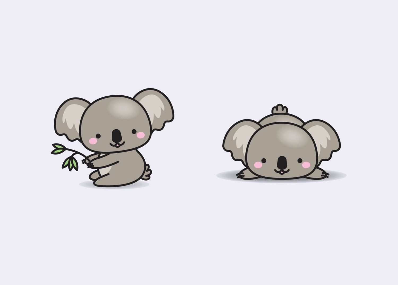 Koala Art And Design : Premium vector clipart kawaii koala cute koalas
