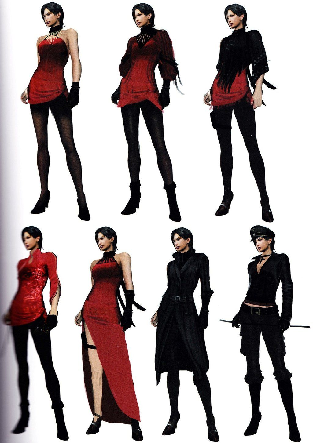Ada Re6 Extra Costumes 3 By Sparrow Leon On Deviantart Resident
