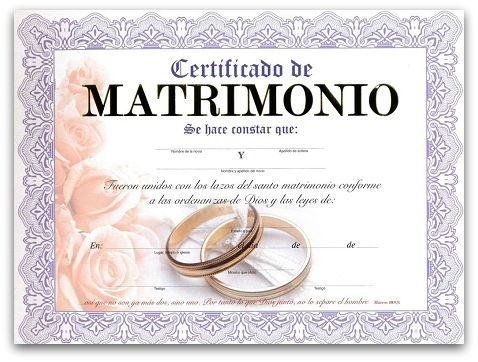 Imagen Relacionada Certificado De Matrimonio Acta De Matrimonio Juegos De Matrimonio