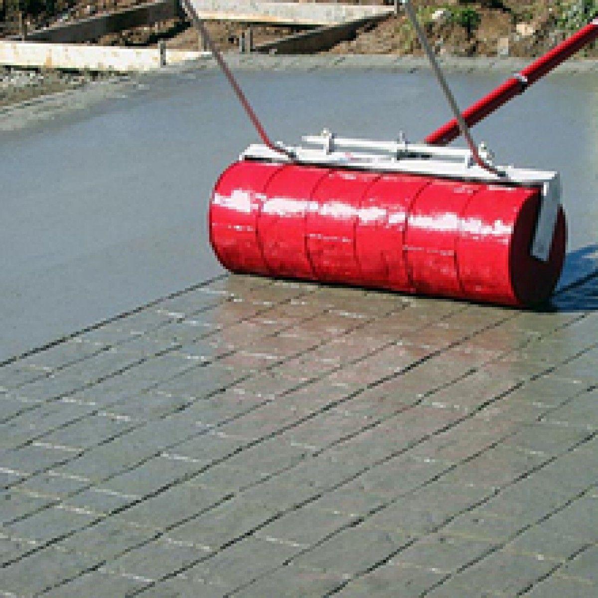 Rr120 36 Rock N Roller 36 Cobble Stone Concrete Stamp Concrete Patio Stamped Concrete Backyard Patio