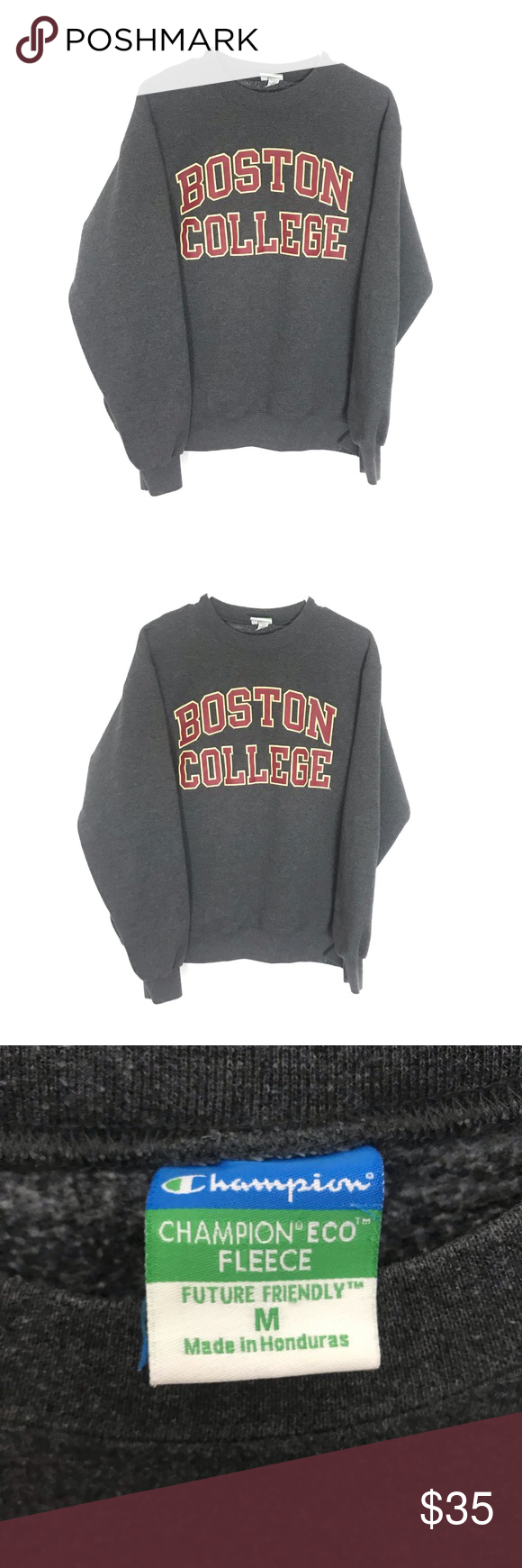 Boston College Crewneck Zara Fashion College Crewneck Sweatshirts Champion Tops [ 1740 x 580 Pixel ]