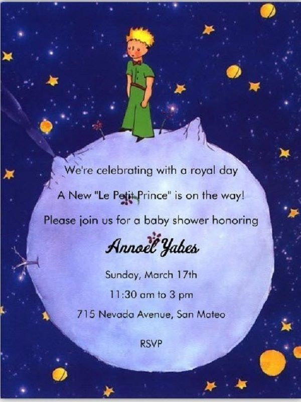 Prince Themed Baby Shower Invitations Prince Baby Shower